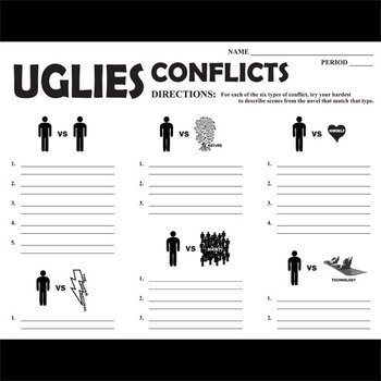 UGLIES Conflict Graphic Organizer - 6 Types of Conflict