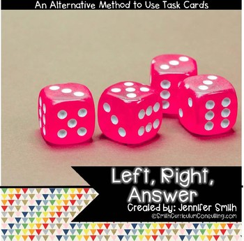 Left, Right, Answer- A New Take on Using Task Cards | For ALL Grades & Subjects