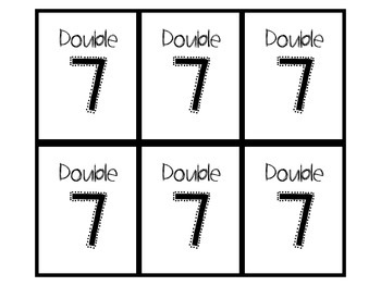 UH-OH DOUBLE Trouble! Building Doubles Fact Power 0-10 (BW and Color)