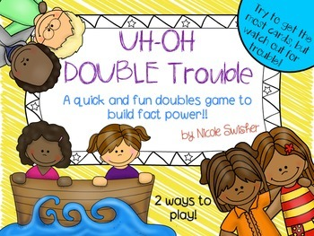 UH-OH DOUBLE Trouble! Building Doubles Fact Power 0-10 (BW