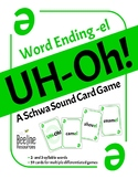 UH-Oh! A Schwa Sound Card Game / Word ending -el *59 word cards* Easy-Prep