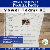 UI Variant Vowels Phonics Pack and Word Work Multisensory Orton-Gillingham