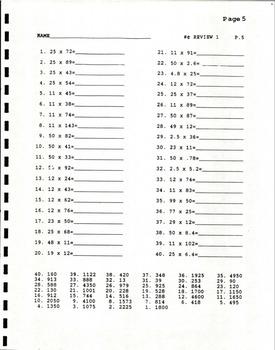 U.I.L Math Number Sense Drill Book