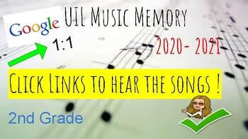 UIL Music Memory 2018 - 2019 Music List - Google  - HEAR ALL SONGS