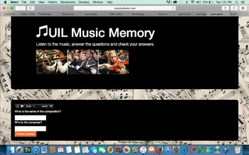 UIL Music Memory