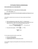 UIL Science Molarity and Stoichiometry