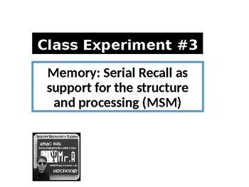 UK A-Level Memory: 1 x Class Experiment