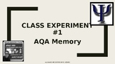 UK A-Level Memory: 2 x Class Experiments
