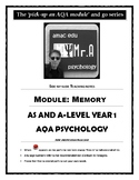 UK A-Level Memory Teaching Notes