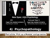 UK AQA A-Level Psychology: Yr1 PSYCHOPATHOLOGY