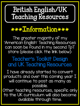 UK {British English} Teaching Resources Information Sheet