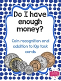 UK Coin recognition and addition to 10p