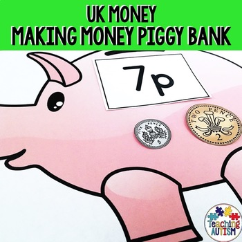 UK Coins Making Money Piggy Banks