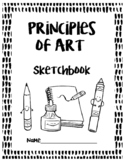 UK/English Version:  Principles of Art Sketchbook