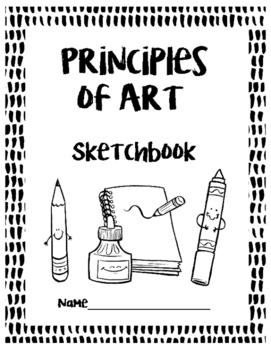 UK/English Version:  Principles of Art Sketchbook