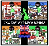 UK & Ireland Clip Art Mega Bundle {Educlips Clipart}