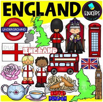 UK & Ireland Clip Art Mega Bundle {Educlips Clipart}