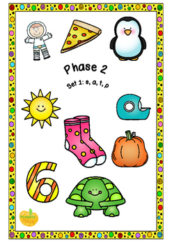 UK Letters and Sounds Set 1 s, a, t, p Phase 2
