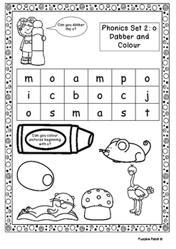 UK Letters and Sounds Set 2 g, o, c, k Phase 2