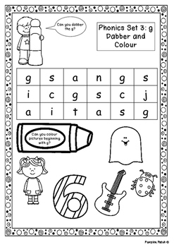 UK Letters and Sounds Set 3 g, o, c, k Phase 2