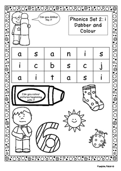 UK Letters and Sounds Set 2 i, m, n, d Phase 2