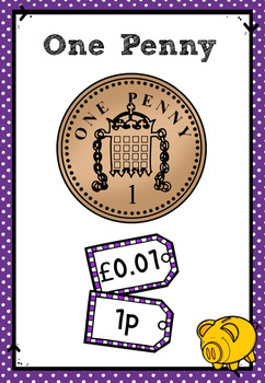 UK Money Posters and Flash Cards