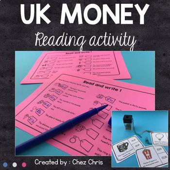 UK Money Reading Activities - Differentiated