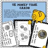UK Money Task Cards Higher Order Thinking HOTS Year 2