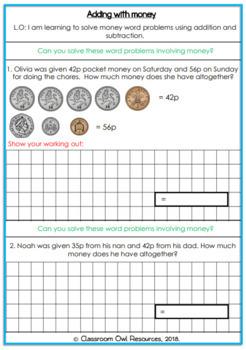 UK Money Word Problems