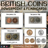 UK Money - coins : Powerpoint presentation and flashcards