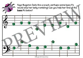 UK Music Theory Worksheets Primer Level - Buggy Bugston