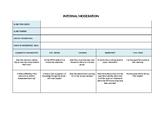 UK National Curriculum - Internal moderation template for