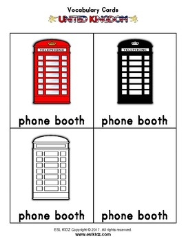 UK Phone Booth Number / Counting Activity