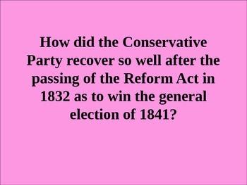 UK Political History Overview of Robert Peel