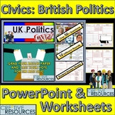 UK Politics PowerPoint Quiz Lesson - Civics and World Studies.