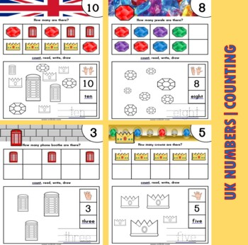 UK Themed Number / Counting Activities
