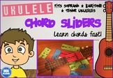 UKULELE - CHORD SLIDERS (FITS UNDER STRINGS) - SOPRANO/BAR