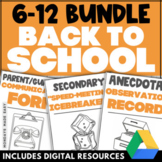 BACK TO SCHOOL BUNDLE Middle and High School Classroom Man