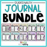 BUNDLE Second Grade Guided Math Journals