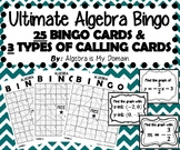 ULTIMATE ALGEBRA BINGO - Graphs of Linear Functions