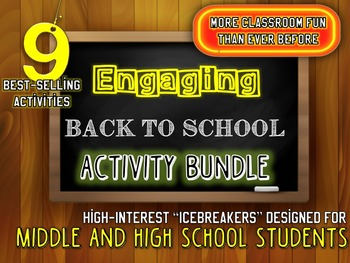 ULTIMATE Back to School Activity FUN-DLE: Activities and Projects | Grades 6-12