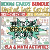 Math and Language Arts Activities Boom Cards Bundle | Dist