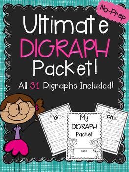 ULTIMATE Digraph Book ~ NO-PREP!