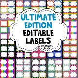 EDITABLE LABELS  ULTIMATE Edition  Bundle & Save! 180 labels & 6 Free Labels! =)