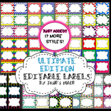 EDITABLE LABELS  ULTIMATE Edition  Bundle & Save! 180 labels & 6 FREE labels!