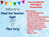 Back to School, Meet the Teacher, Open House PowerPoint COMPLETELY EDITABLE