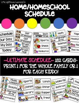 ULTIMATE HOMESCHOOL/FAMILY Picture Schedule