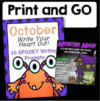 ULTIMATE Halloween/October Math and ELA Bundle for Grades 3-5