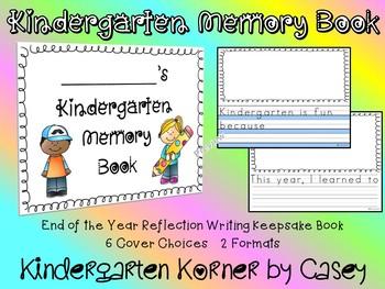 KINDERGARTEN MEMORY BOOK END OF YEAR WRITING BOOK Keepsake