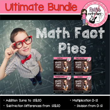 Math Facts Fluency Practice BUNDLE (Add, Sub, Multi, Div)